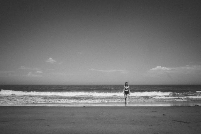 Abby on North Bay Beach, Scarborough