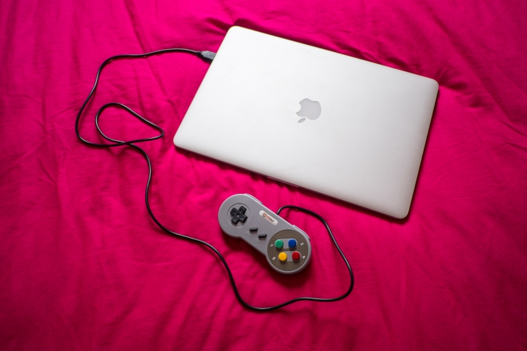 The Pi Hut SNES controller with MacBook Pro running OpenEmu by Lee Jones
