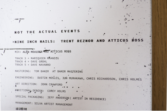 Nine Inch Nails Not The Actual Events Physical Component photographed by Lee Jones