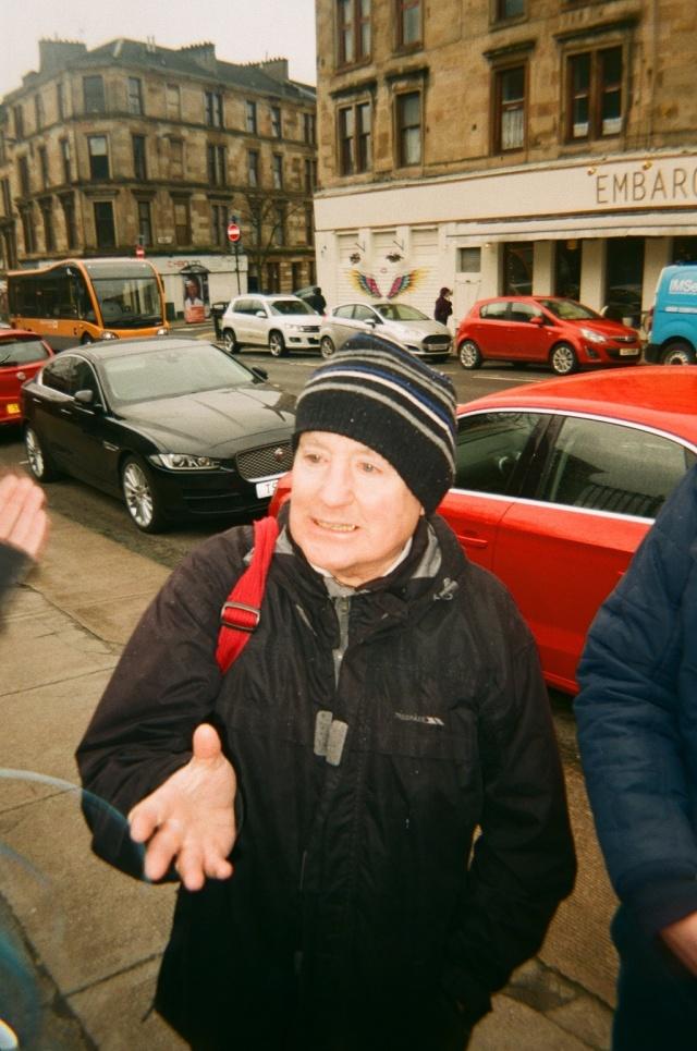 anti-abortion religious man on byers road in glasgow