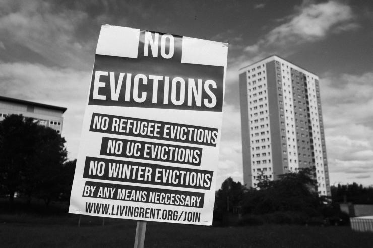 Maryhill, Vigil Against SERCO eviction-2
