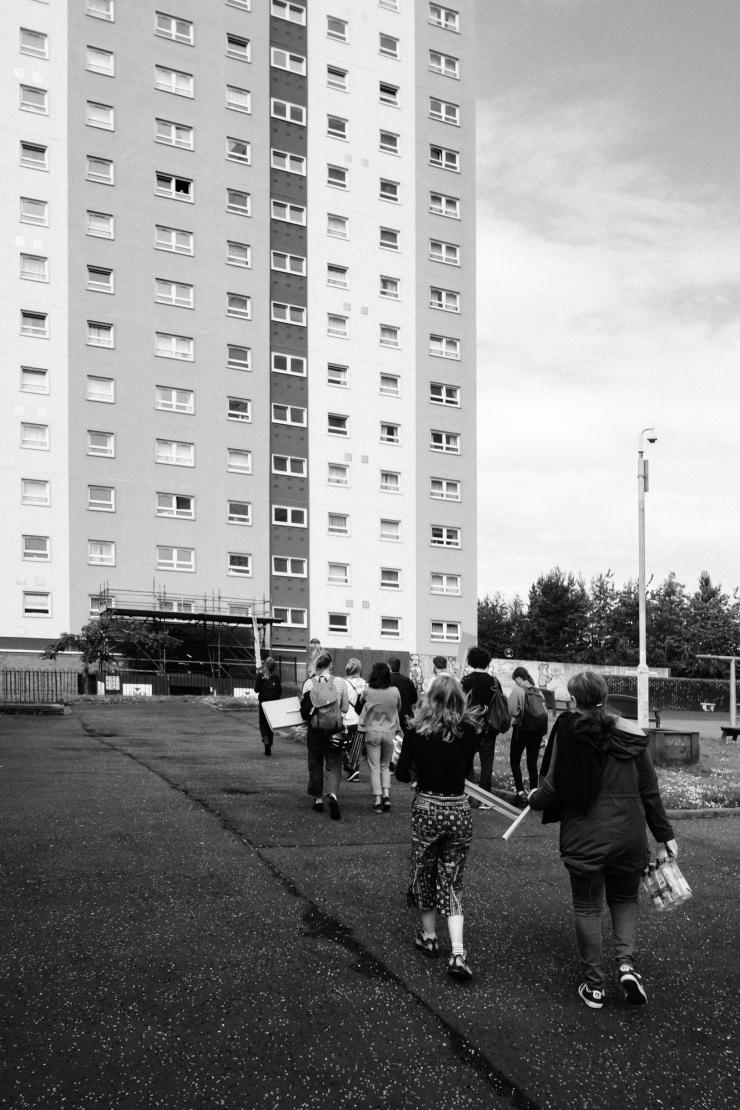 Maryhill, Vigil Against SERCO eviction-5