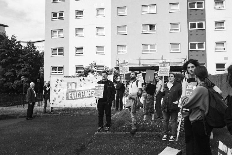 Maryhill, Vigil Against SERCO eviction-7